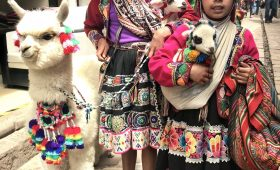 Colorful textiles of Peru